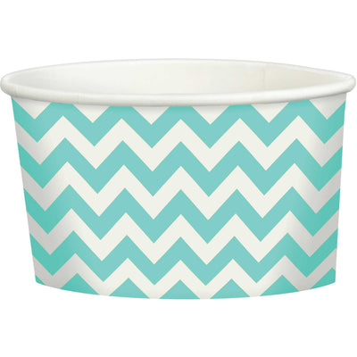 Aqua Chevron Treat Cup