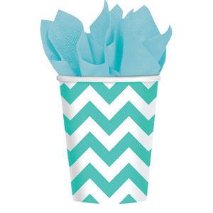 Aqua Chevron Cups
