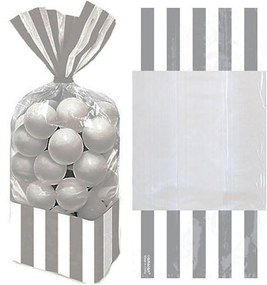 Silver Stripe Cello Bags