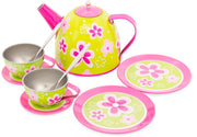 Flower Tin Tea Set