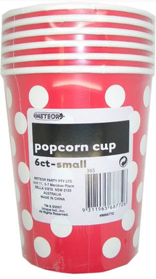 Apple Red Polka Dots Popcorn Cups