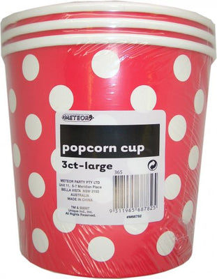 Apple Red Polka Dot Popcorn Bucket