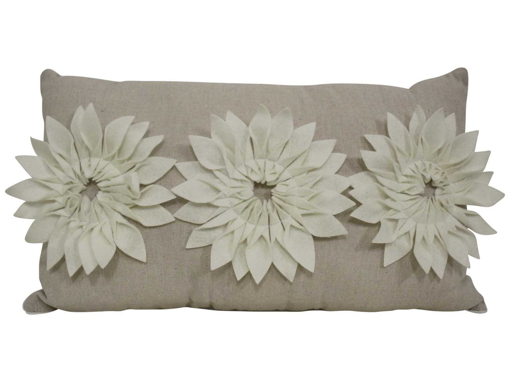 Triple Dahlias Cushion