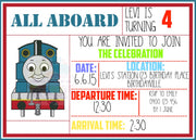 All Aboard Personalised Invite