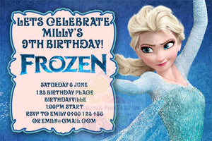 Anna Frozen Personalised Invite