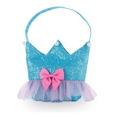 Forever Sparkle Crown Blue Handbag