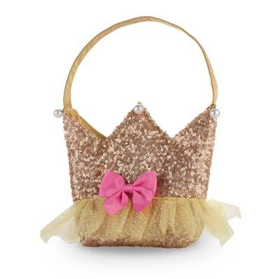 Forever Sparkle Crown Gold Handbag