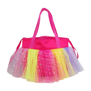 Ballerina Hot Pink Drawstring Handbag