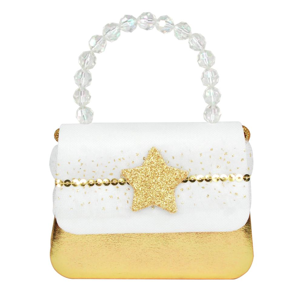 Festive Fairy Star White Hard Handbag
