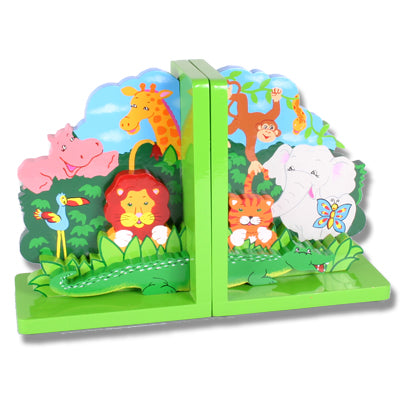 Zoo Animals Bookends