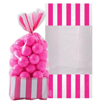 Bright Pink Stripe Cello Bags