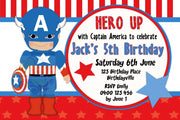 Captain America Personalised Invite