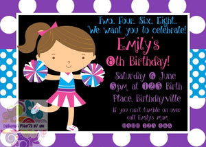 Cheerleader Tumble Personalised Invite
