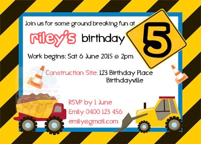 Construction Personalised Invite