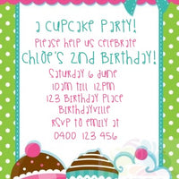 Cupcake Personalised Invite