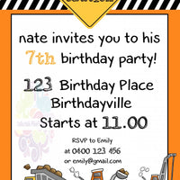Diggers Personalised Invite