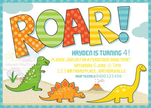 Dinosaur Personalised Invite