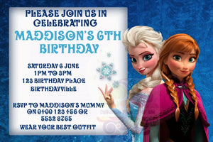 Frozen Elsa Personalised Invite
