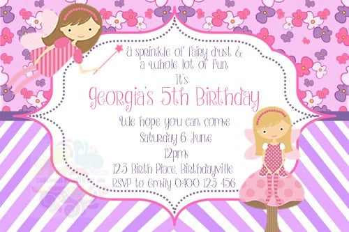 Fairy Sparkle Personalised Invite