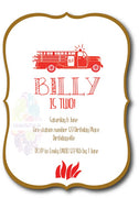 Fire Engine Personalised Invite