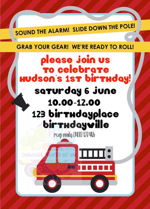 Fire Station Personalised Invite