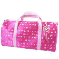 Flower Power Hot Pink Overnight Bag