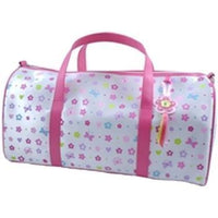 Flower Power White Overnight Bag