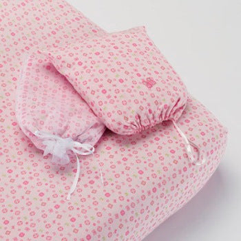 Flower Print Cot Fitted Sheet