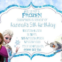 Frozen Icy Personalised Invite