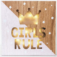 Girls Rule Light Box