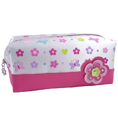 Flower Power White Pencil Case