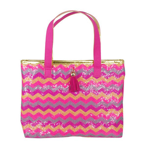 Sequin Sparkle Hot Pink Mini Tote