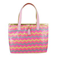 Sequin Sparkle Pale Pink Mini Tote