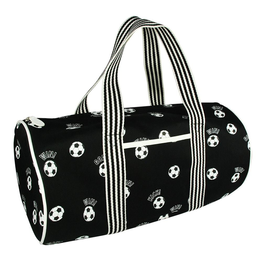 Soccer Club Black Overnight Bag