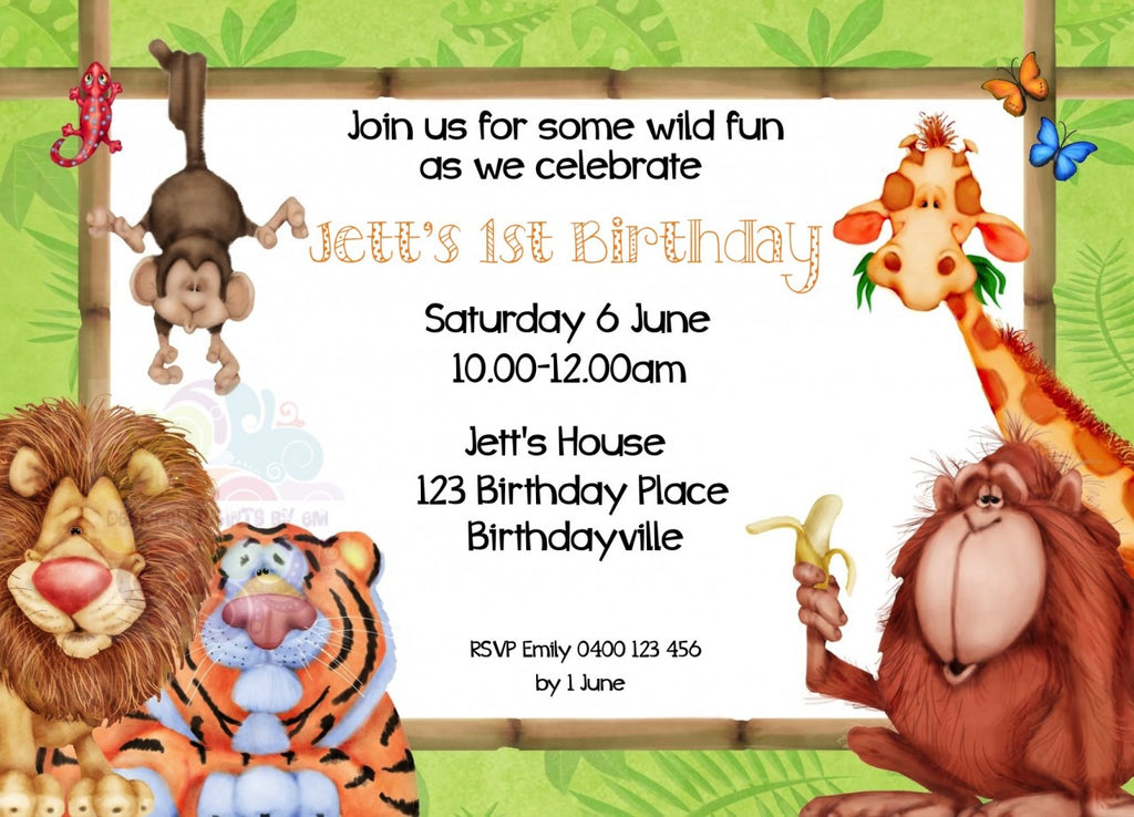 Jungle Fun Personalised Invite