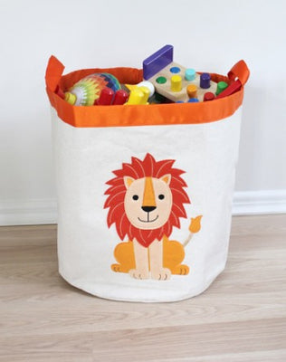 Lion Round Storage Basket