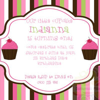 Little Cupcake Personalised Invite