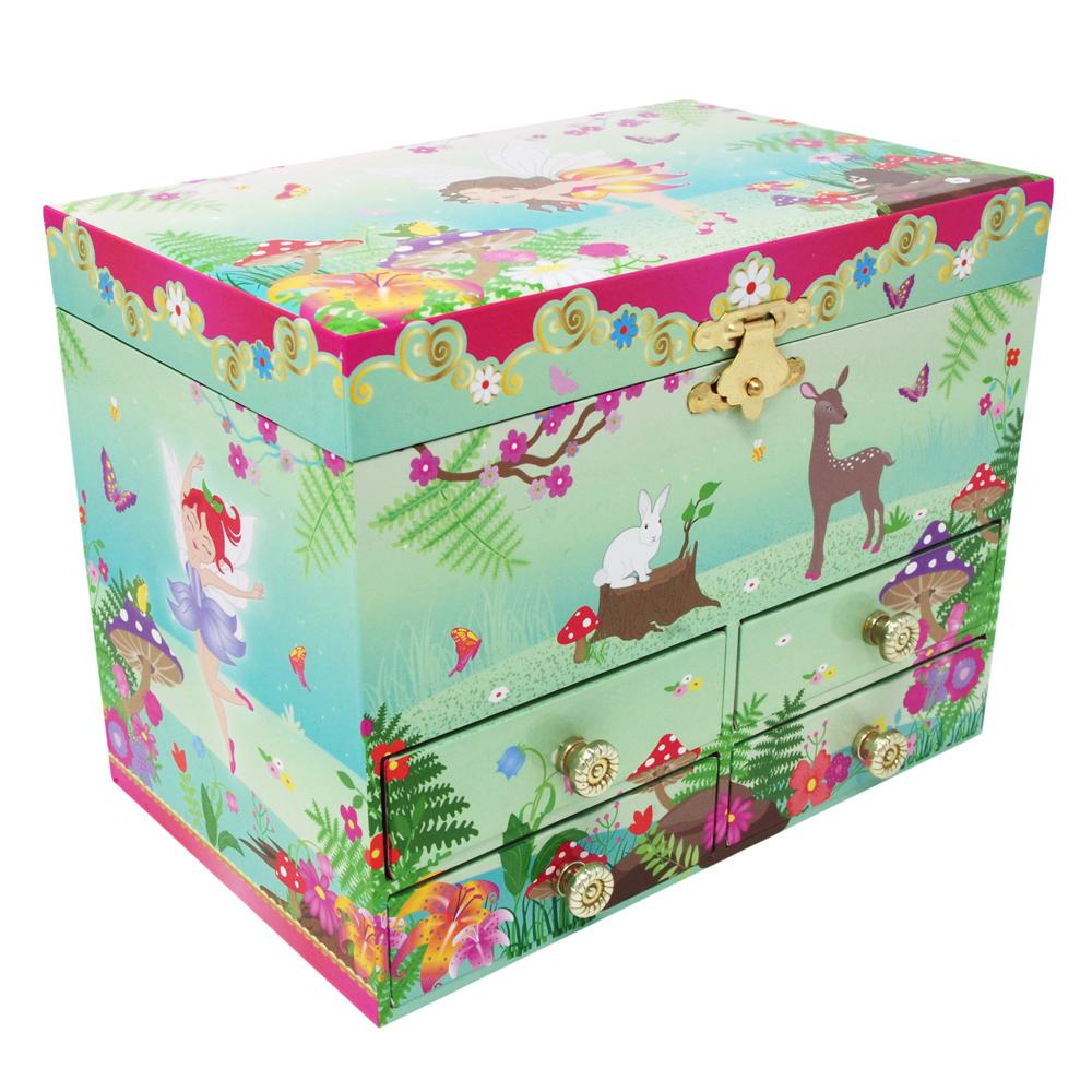 Forest Fairy Musical Jewellery Box - Medium