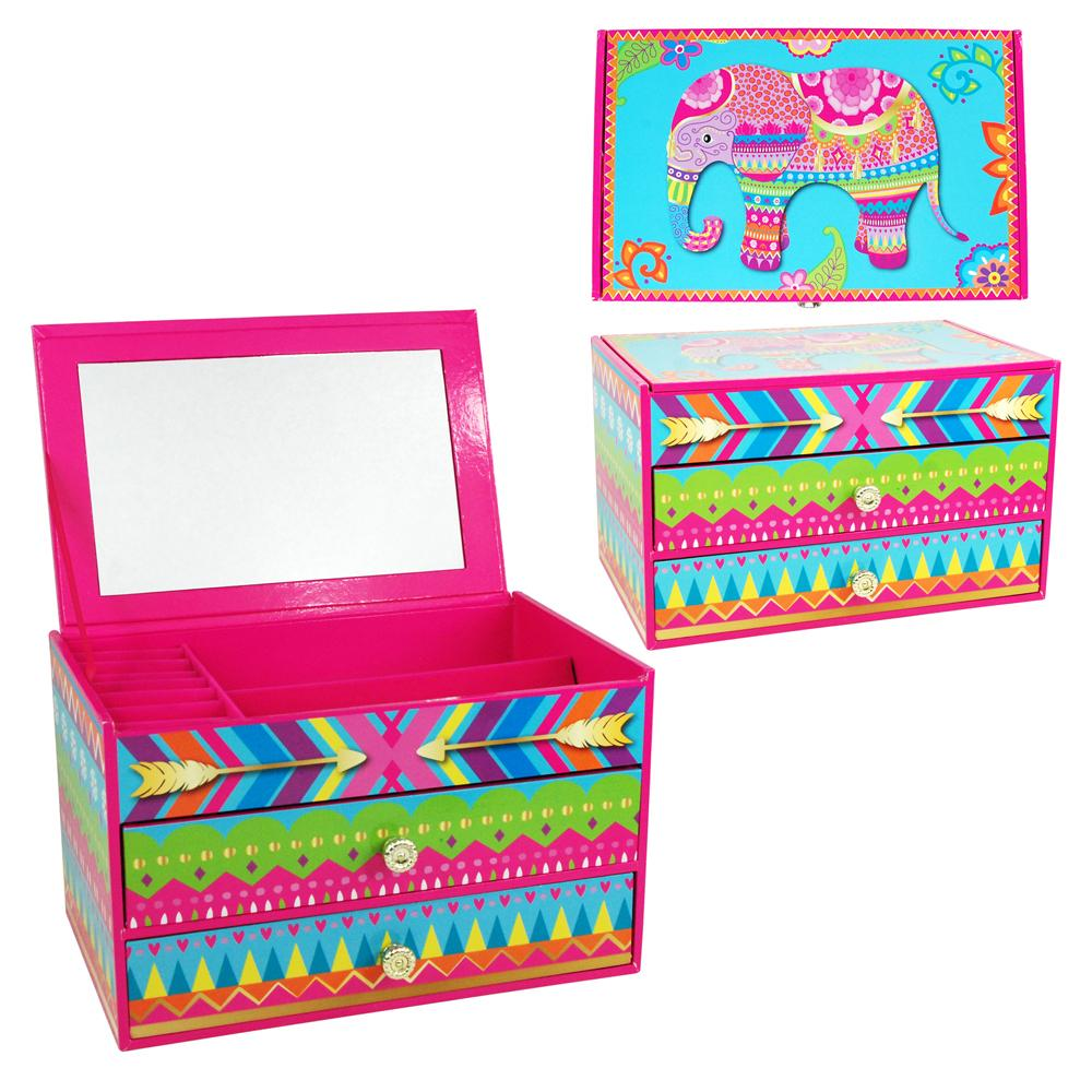 Zentangle Elephant Jewellery Box