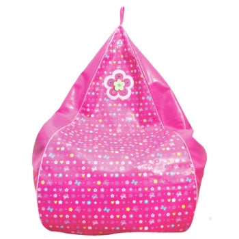 Flower Power Hot Pink Bean Bag