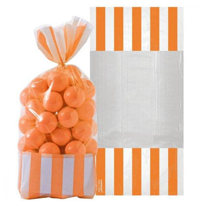 Orange Stripe Cello Bags