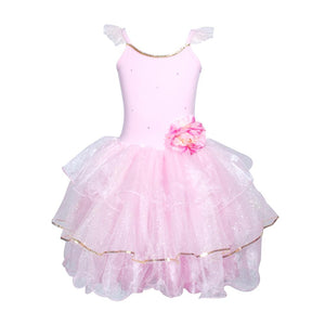 Peony Flower Fairy Pale Pink Dress