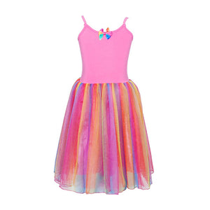 Rainbow Princess Hot Pink Dress