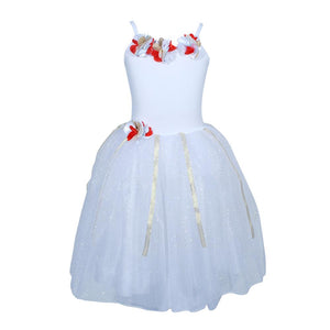 Festive Fairy Petal White Dress