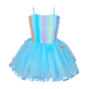 Ruffles & Bows Blue Dress