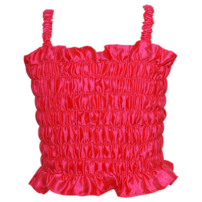 Sleeveless Dress Up Singlet Hot Pink