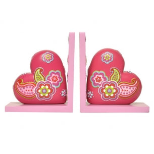 Paisley Heart Bookends