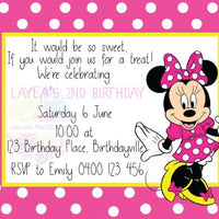 Minnie Mouse Personalised Invite