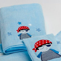 Pirate Bath Towel and Bath Mit Set