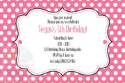 Polka Dot Personalised Invite